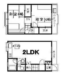 [テラスハウス] 千葉県市川市塩焼4丁目 の賃貸【/】の間取り