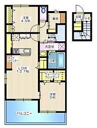 プランドール横浜 2階2SLDKの間取り