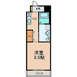 滋賀県長浜市平方町の賃貸マンションの間取り