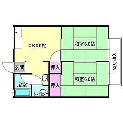 エコート長沢[1階]の間取り