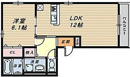 セレナーデ A棟[3階]の間取り