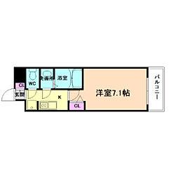 Osaka Metro千日前線 阿波座駅 徒歩6分の賃貸マンション 9階1Kの間取り