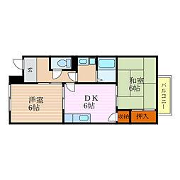 滋賀県彦根市川瀬馬場町の賃貸アパートの間取り