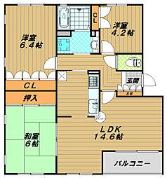 フォレスト竹の台[4階]の間取り