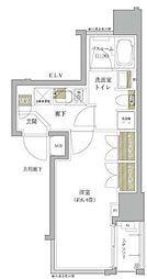 オープンレジデンシア銀座二丁目 2階1Kの間取り