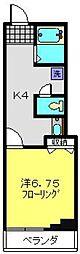 AKハイム反町[502号室]の間取り