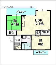 平川住宅 16[402号室]の間取り
