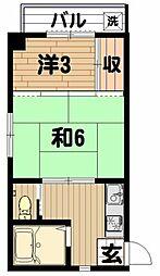 コーポ吉野[2階]の間取り
