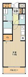 JR南武線 矢川駅 徒歩5分の賃貸マンション 1階ワンルームの間取り