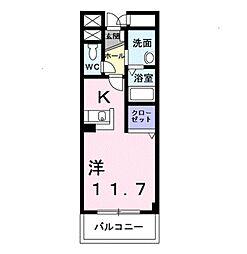 愛知県豊橋市佐藤2丁目の賃貸マンションの間取り