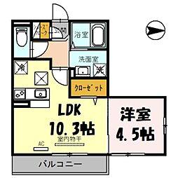 (仮)日進町1丁目PJ 3階1LDKの間取り