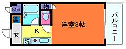 シャンブル岡本[1階]の間取り
