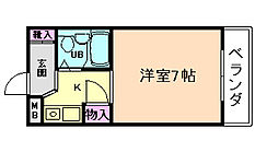 大八ビル[4階]の間取り