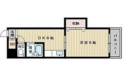 東中島第1土井マンション[10階]の間取り