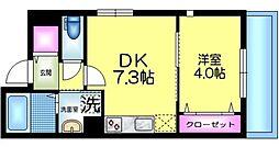 J.maison ジェイメゾン 3階1DKの間取り