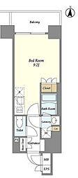 東京メトロ半蔵門線 錦糸町駅 徒歩9分の賃貸マンション 8階ワンルームの間取り