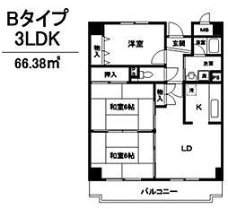 キッツ スクエア[4階]の間取り