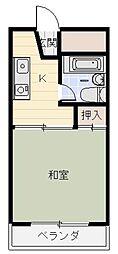 アジアンパークストリート[205号室]の間取り