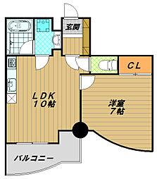 カーサヤナガワ[4階]の間取り