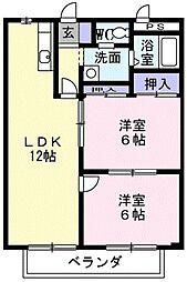 シティハイツSUZUKI3[202号室]の間取り