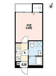 埼玉新都市交通 東宮原駅 徒歩3分の賃貸アパート 1階1Kの間取り