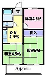 小田第一マンション[1階]の間取り