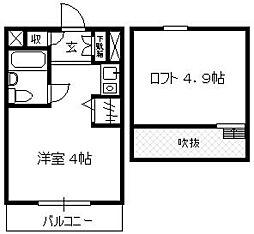 キャッスルマンション狭山祇園[6階]の間取り