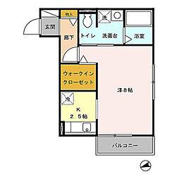 グランドソレーユ  A棟[1階]の間取り