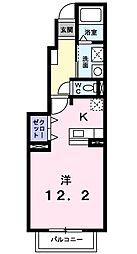 神奈川県綾瀬市蓼川2の賃貸アパートの間取り