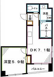 JR中央線 阿佐ヶ谷駅 徒歩4分の賃貸マンション 3階1DKの間取り