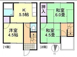 [一戸建] 岡山県倉敷市東富井 の賃貸【/】の間取り