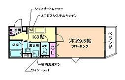 アネックス桜の町B棟[302号室]の間取り