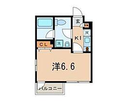 東京都西東京市富士町4丁目の賃貸マンションの間取り