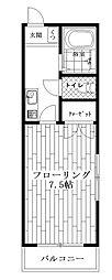 東京都杉並区高円寺北2丁目の賃貸マンションの間取り