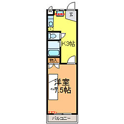 塚原コーポII[2階]の間取り