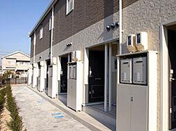 愛知県岡崎市若松町字伝兵衛屋敷の賃貸アパートの外観