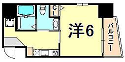 アルファ神戸元町 3階1Kの間取り