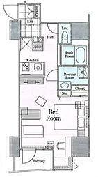 ロイジェントパークス四ツ谷 2階ワンルームの間取り
