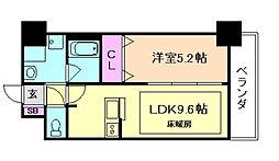 ディームス江坂[2階]の間取り