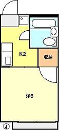 シティハイムコアラ[101号室]の間取り