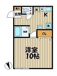 YAMASHIN・笛田[105号室]の間取り