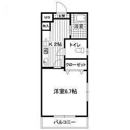 ローレルハイツ30[203号室]の間取り