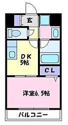 大阪府富田林市喜志町5丁目の賃貸マンションの間取り