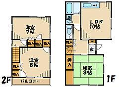[一戸建] 神奈川県厚木市温水 の賃貸【/】の間取り