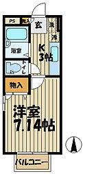 ピュアIII[201号室]の間取り