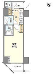 カーサスプレンディッド麻布仙台坂 4階1Kの間取り