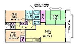 エスポワールK15[401号室]の間取り