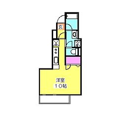 スターレジデンス大倉山[2階]の間取り