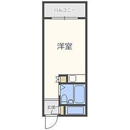 プチメゾン室見[2階]の間取り
