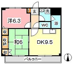 マンション曽根本 II[406号室]の間取り
